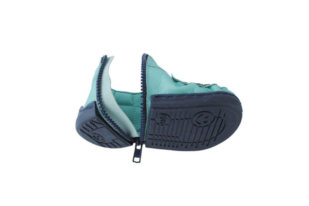 Walkkings-Zip-Around-Baby-Kids-Todder-First-Step-Shoes-aqua-Unzipped-compressed-tiny